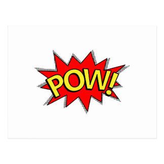 POW! - Superhero Comic Book Red/Yellow Bubble Postcard