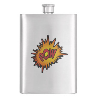 Pow Superhero Fight Hip Flask
