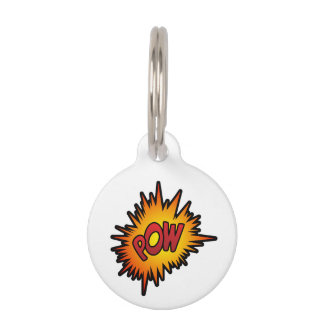 Pow Superhero Fight Pet ID Tag
