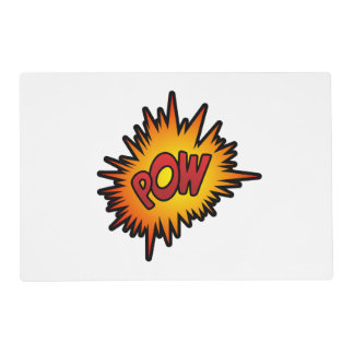 Pow Superhero Fight Placemat