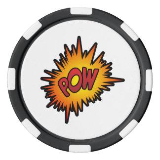 Pow Superhero Fight Poker Chips Set