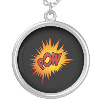 Pow Superhero Fight Silver Plated Necklace