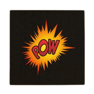 Pow Superhero Fight Wood Coaster