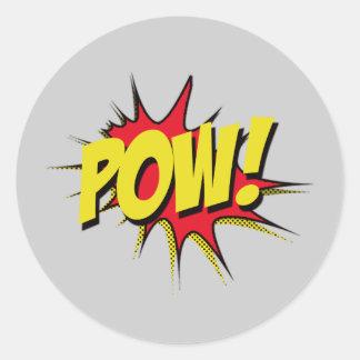 Pow! Superhero Party Stickers