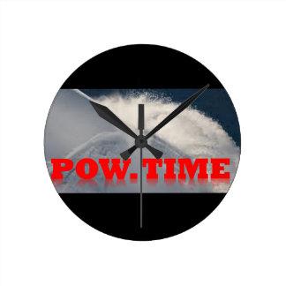 POW TIME WALL CLOCK