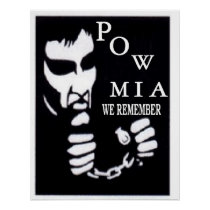 POW WITH CHAINS POSTER
