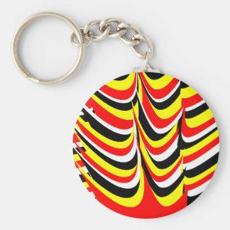 pow wow basic round button keychain