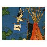 POW-WOW BIRTHDAY PARTY INVITATION ~ EZ2 CUSTOMIZE