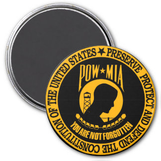 POW - You Are Not Forgotten 3 Inch Round Magnet