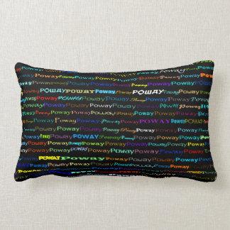 Poway Text Design I Lumbar Pillow