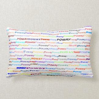 Poway Text Design II Lumbar Pillow