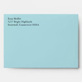 Powder Blue A7 5x7 Envelopes With Return Address