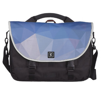 Powder Blue Abstract Low Polygon Background Laptop Messenger Bag