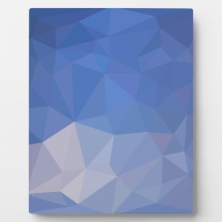 Powder Blue Abstract Low Polygon Background Plaque