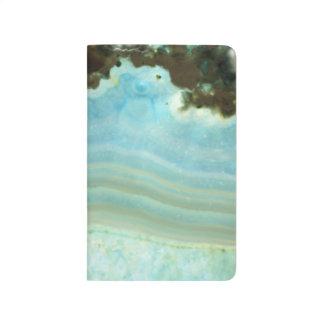 Powder Blue Agate Geode Gemstone Crystal Pattern Journal
