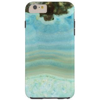 Powder Blue Agate Geode Rock Crystal Patterns Tough iPhone 6 Plus Case