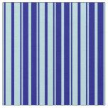 [ Thumbnail: Powder Blue and Blue Lined Pattern Fabric ]