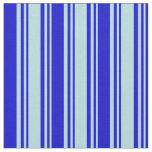 [ Thumbnail: Powder Blue and Blue Lines/Stripes Pattern Fabric ]