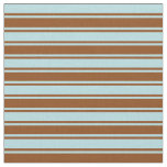 [ Thumbnail: Powder Blue and Brown Colored Lines Fabric ]