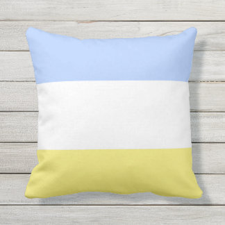 Powder Blue and Buttercup Yellow Throw Pillow