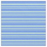 [ Thumbnail: Powder Blue and Cornflower Blue Lines Fabric ]