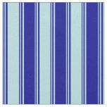 [ Thumbnail: Powder Blue and Dark Blue Stripes/Lines Pattern Fabric ]