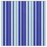 [ Thumbnail: Powder Blue and Dark Blue Stripes Pattern Fabric ]
