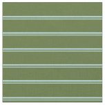 [ Thumbnail: Powder Blue and Dark Olive Green Colored Lines Fabric ]