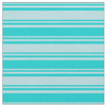 [ Thumbnail: Powder Blue and Dark Turquoise Colored Lines Fabric ]