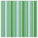 [ Thumbnail: Powder Blue and Forest Green Colored Lines Fabric ]