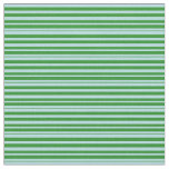 [ Thumbnail: Powder Blue and Forest Green Lines Fabric ]