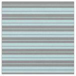 [ Thumbnail: Powder Blue and Gray Stripes Fabric ]