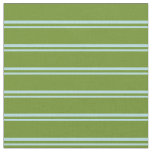 [ Thumbnail: Powder Blue and Green Colored Stripes Fabric ]