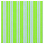 [ Thumbnail: Powder Blue and Green Pattern of Stripes Fabric ]