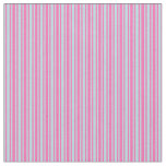 [ Thumbnail: Powder Blue and Hot Pink Colored Lines Fabric ]