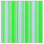 [ Thumbnail: Powder Blue and Lime Colored Lined Pattern Fabric ]