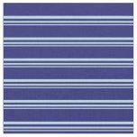 [ Thumbnail: Powder Blue and Midnight Blue Stripes Fabric ]