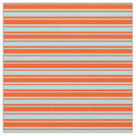 [ Thumbnail: Powder Blue and Red Lined Pattern Fabric ]