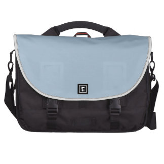 Powder Blue Background. Chic Fashion Color Trends Computer Bag
