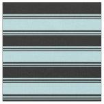 [ Thumbnail: Powder Blue & Black Colored Striped Pattern Fabric ]
