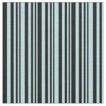 [ Thumbnail: Powder Blue & Black Colored Stripes Fabric ]