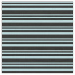 [ Thumbnail: Powder Blue & Black Lined Pattern Fabric ]