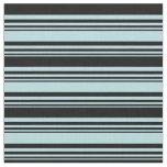 [ Thumbnail: Powder Blue & Black Lines Pattern Fabric ]