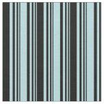 [ Thumbnail: Powder Blue & Black Stripes Fabric ]