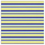 [ Thumbnail: Powder Blue, Blue, and Yellow Lined Pattern Fabric ]