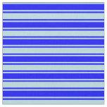 [ Thumbnail: Powder Blue & Blue Colored Striped Pattern Fabric ]