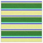 [ Thumbnail: Powder Blue, Blue, Yellow, Dark Green, and Green Fabric ]