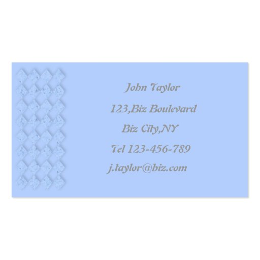 Powder Blue Business Card Template