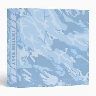Powder Blue Camo Binder w/ Custom Title