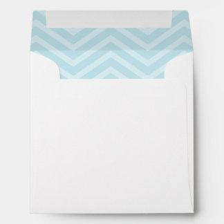 Powder Blue Chevron Lined Envelopes